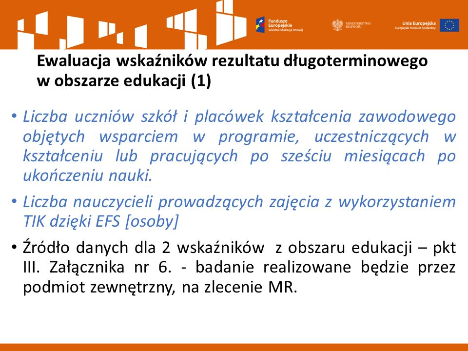 Ewaluacja wskaźników rezultatu długoterminowego w obszarze edukacji (1)