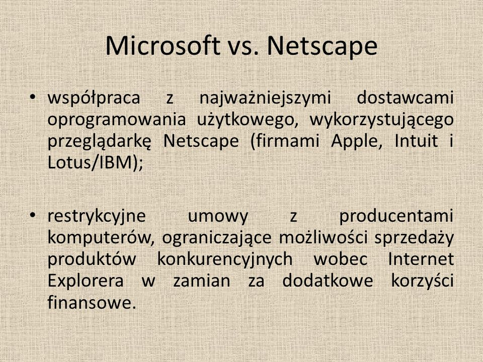 Microsoft vs. Netscape