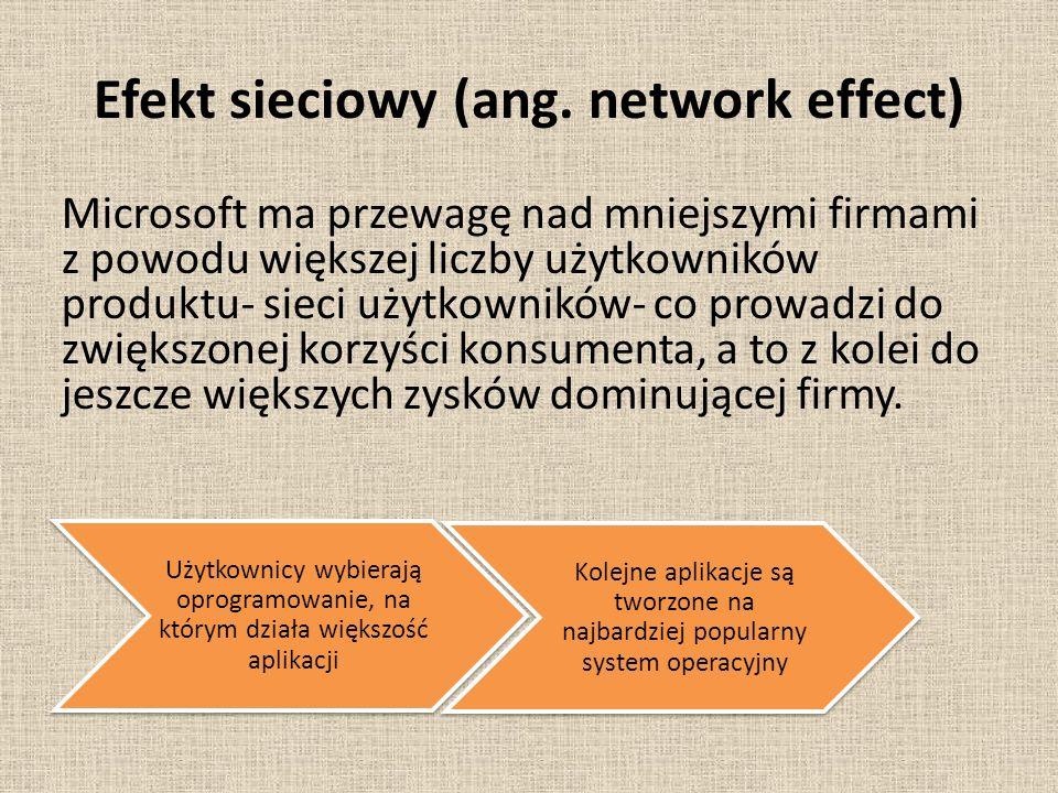 Efekt sieciowy (ang. network effect)