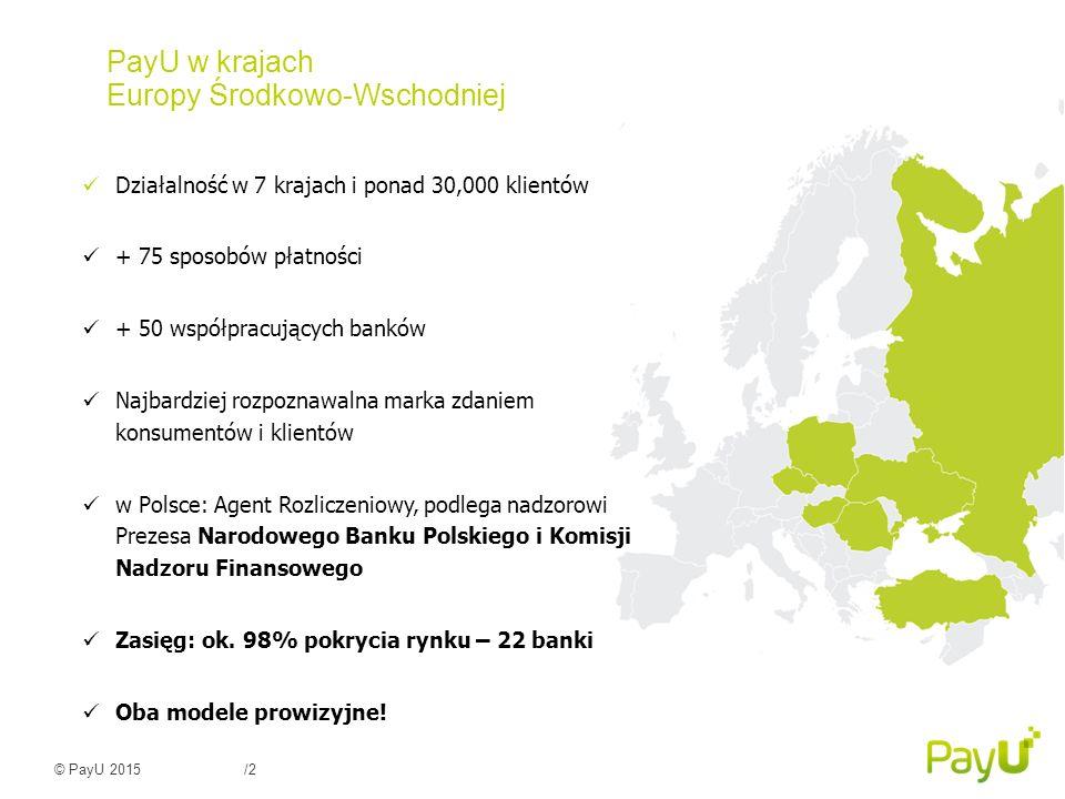 PayU w krajach Europy Środkowo-Wschodniej
