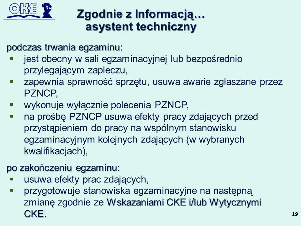 Zgodnie z Informacją… asystent techniczny