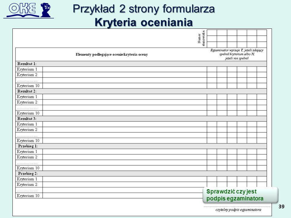 Przykład 2 strony formularza