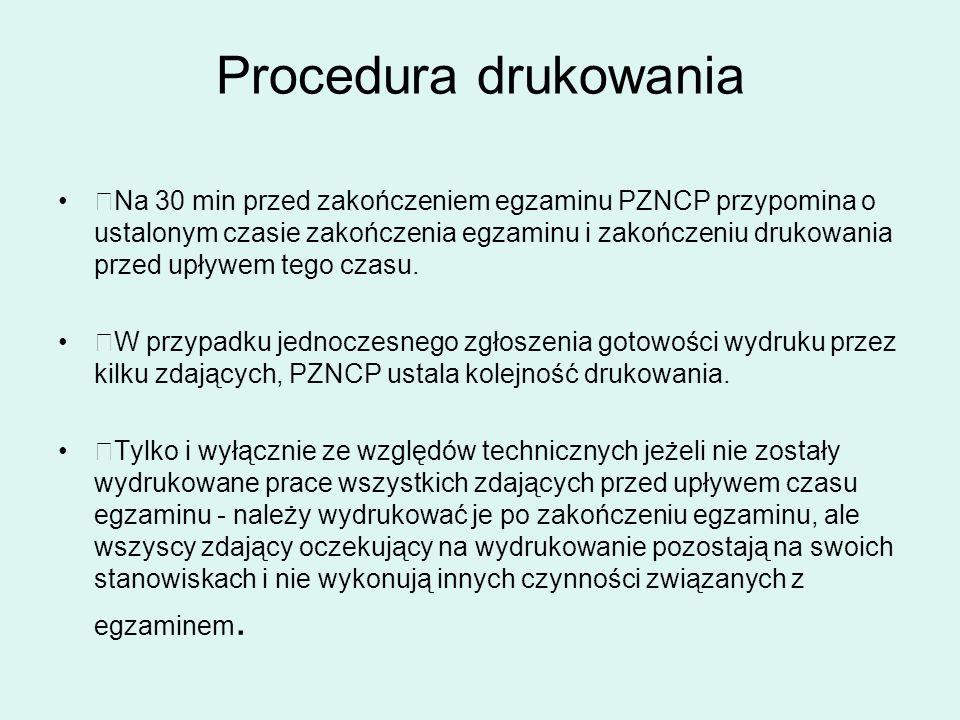 Procedura drukowania