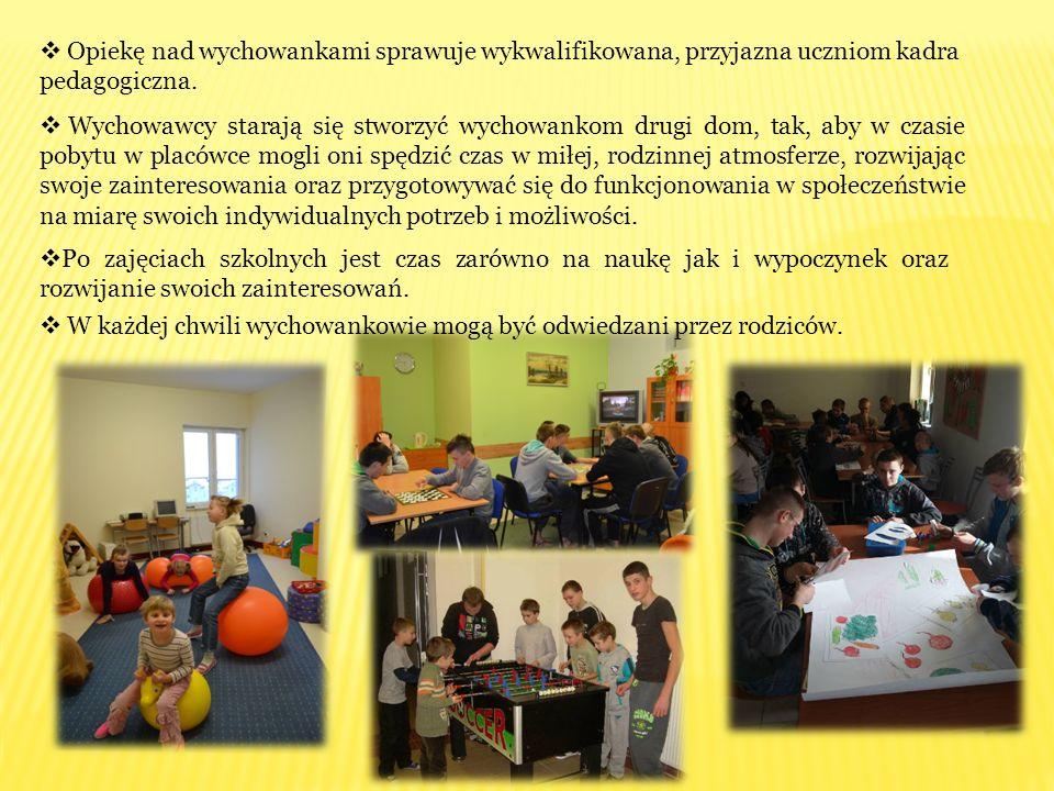 Opiekę nad wychowankami sprawuje wykwalifikowana, przyjazna uczniom kadra pedagogiczna.