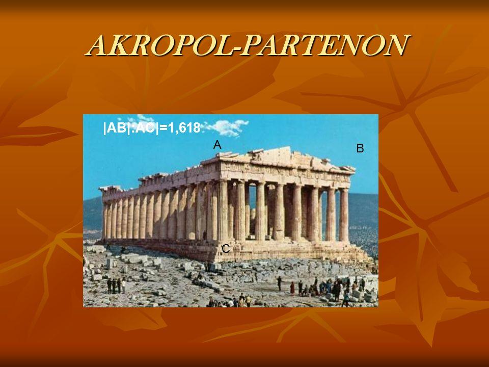 AKROPOL-PARTENON |AB|:AC|=1,618 A B C