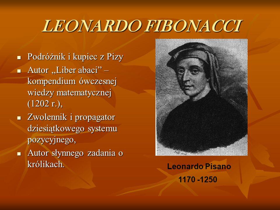 LEONARDO FIBONACCI Podróżnik i kupiec z Pizy