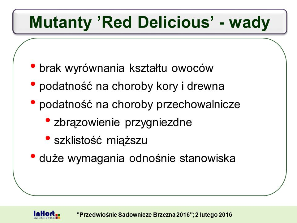 Mutanty 'Red Delicious' - wady