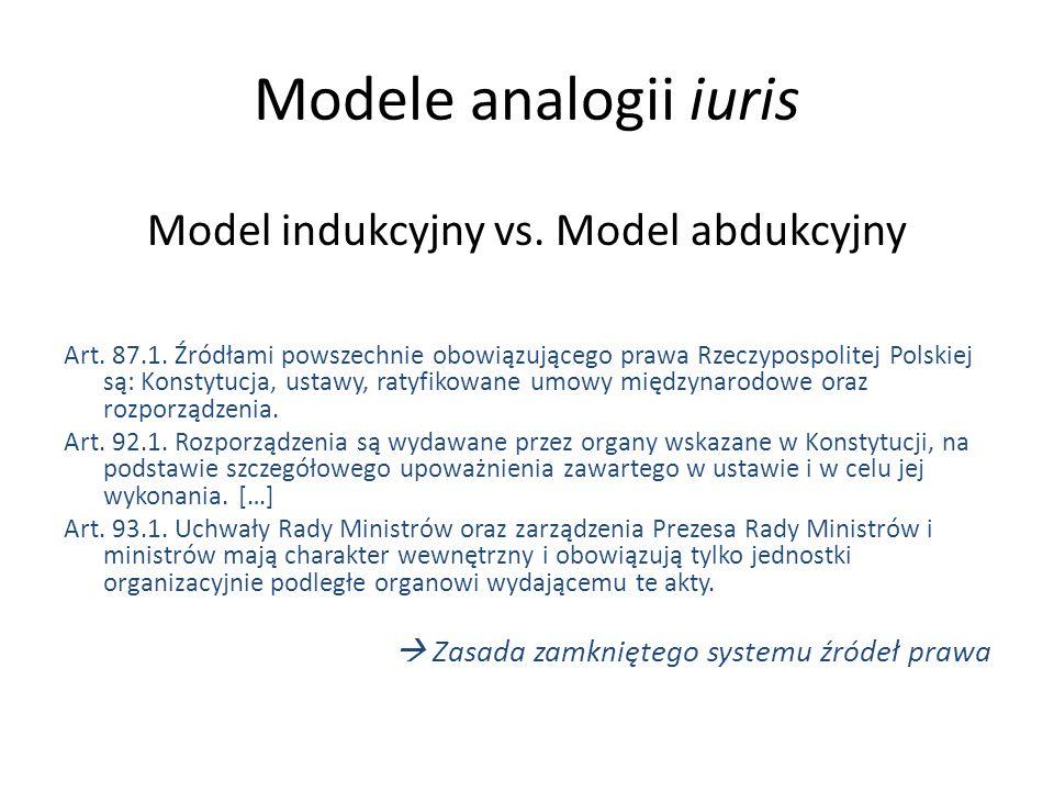 Model indukcyjny vs. Model abdukcyjny