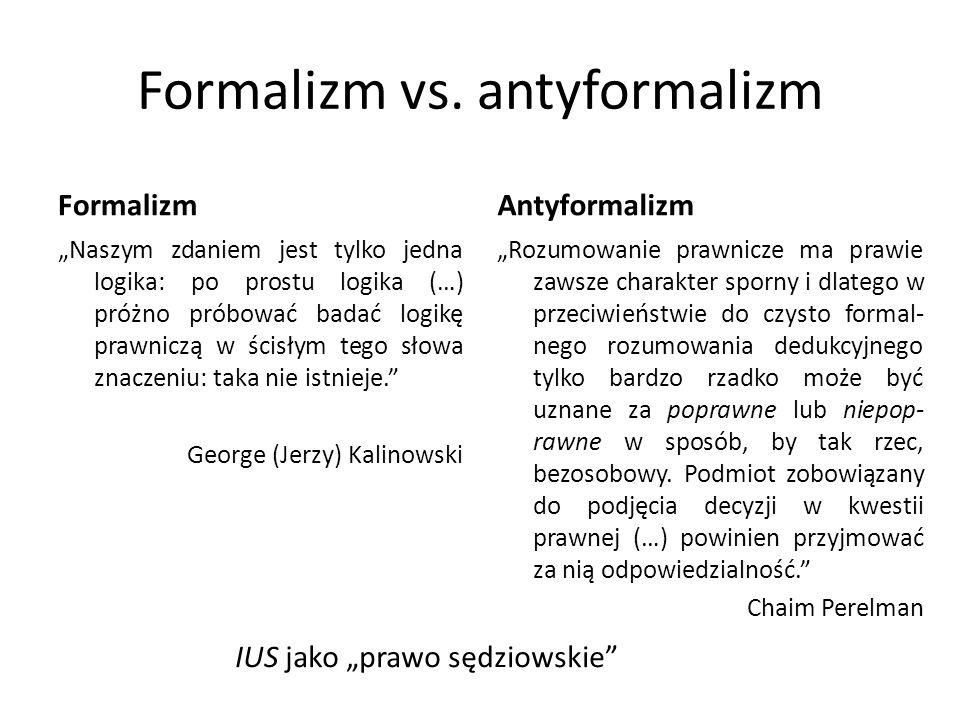 Formalizm vs. antyformalizm