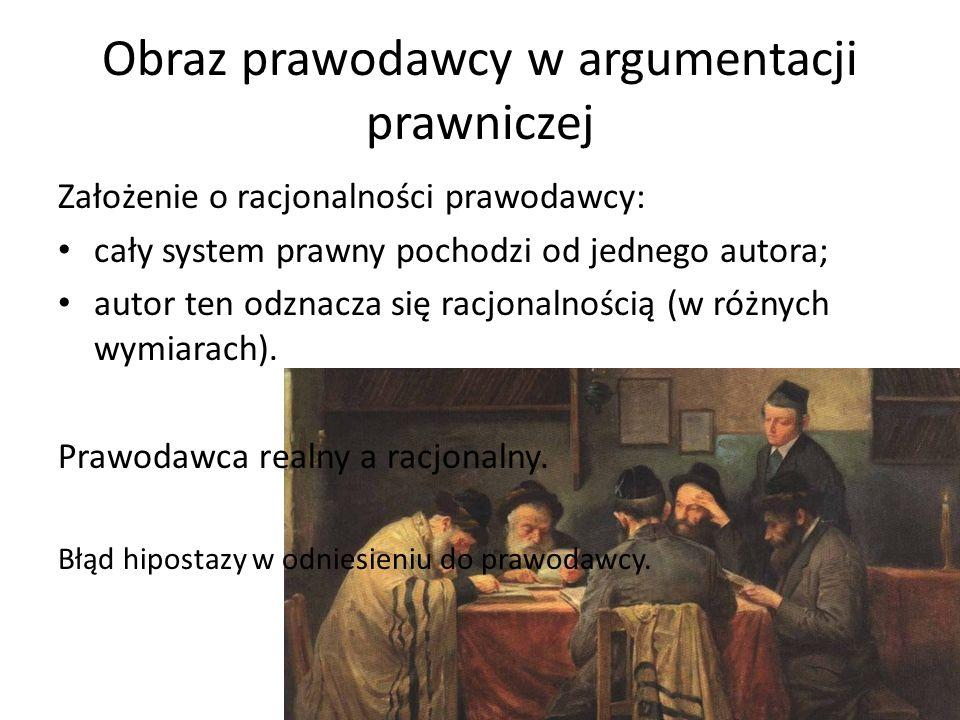 Obraz prawodawcy w argumentacji prawniczej