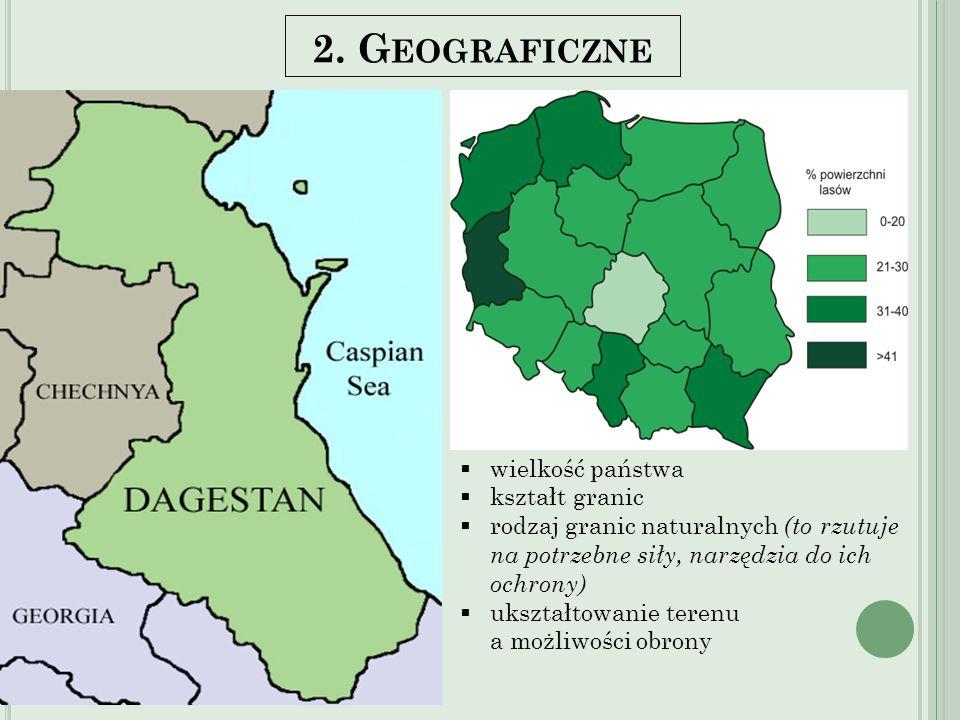 2. Geograficzne Kształt koła Granice naturalne