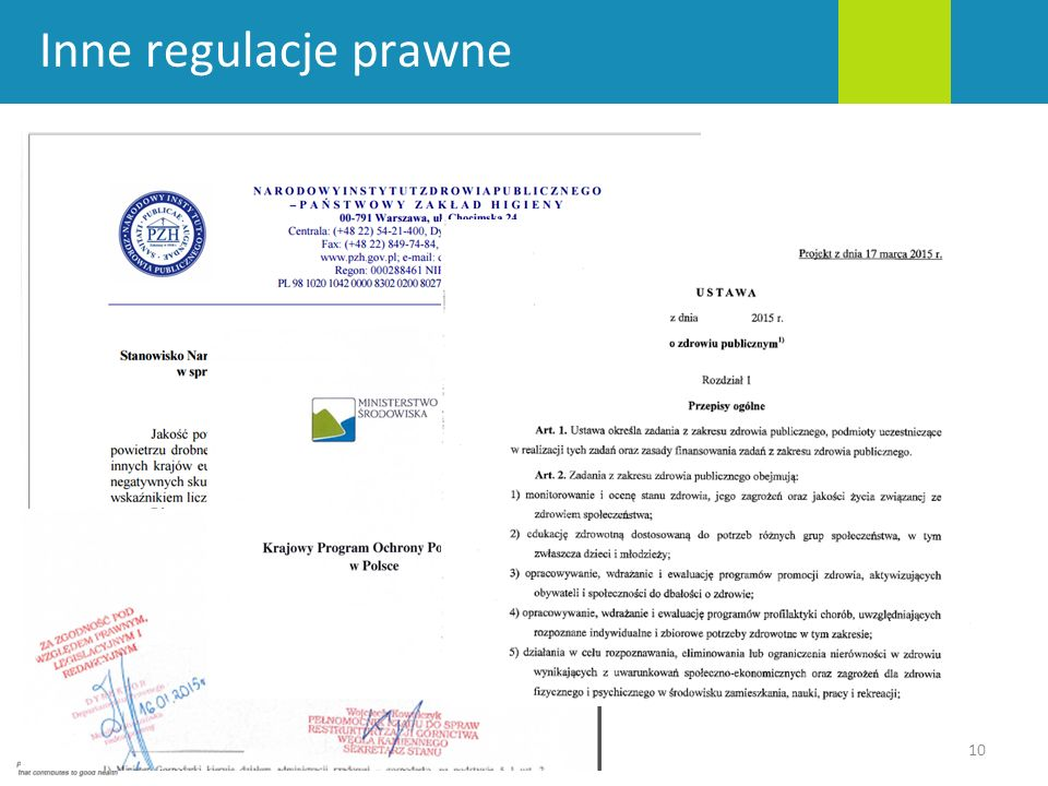 Inne regulacje prawne