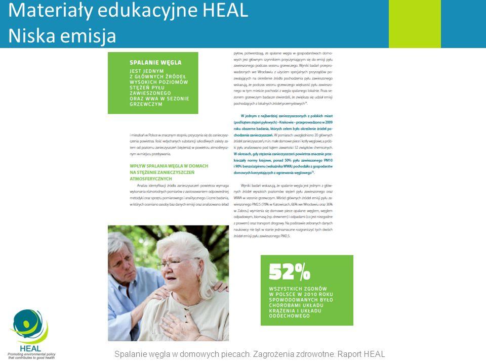Materiały edukacyjne HEAL Niska emisja