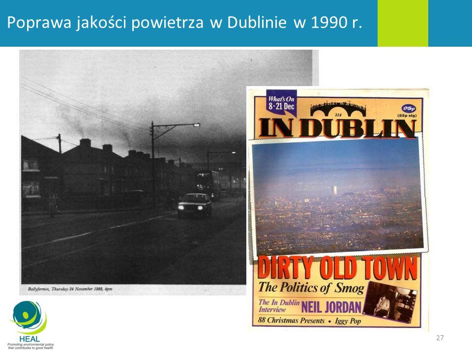 Poprawa jakości powietrza w Dublinie w 1990 r.