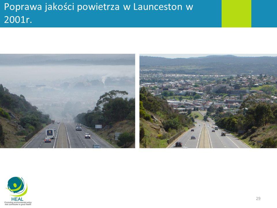 Poprawa jakości powietrza w Launceston w 2001r.