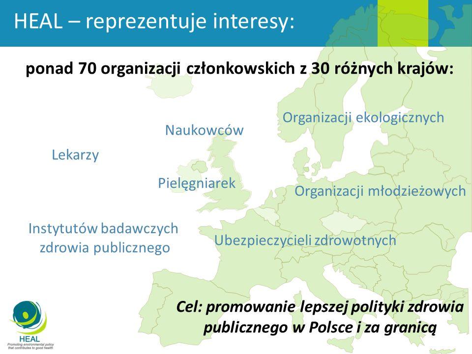 ponad 70 organizacji członkowskich z 30 różnych krajów: