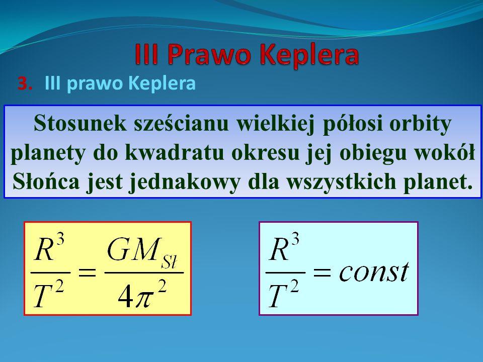 III Prawo Keplera III prawo Keplera.