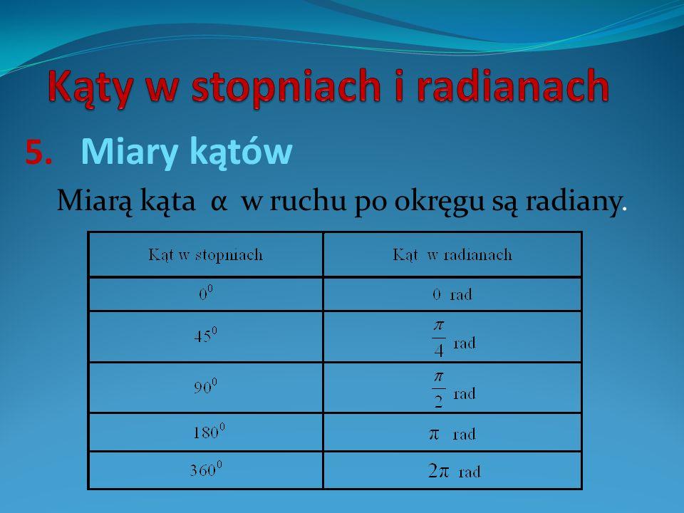 Kąty w stopniach i radianach
