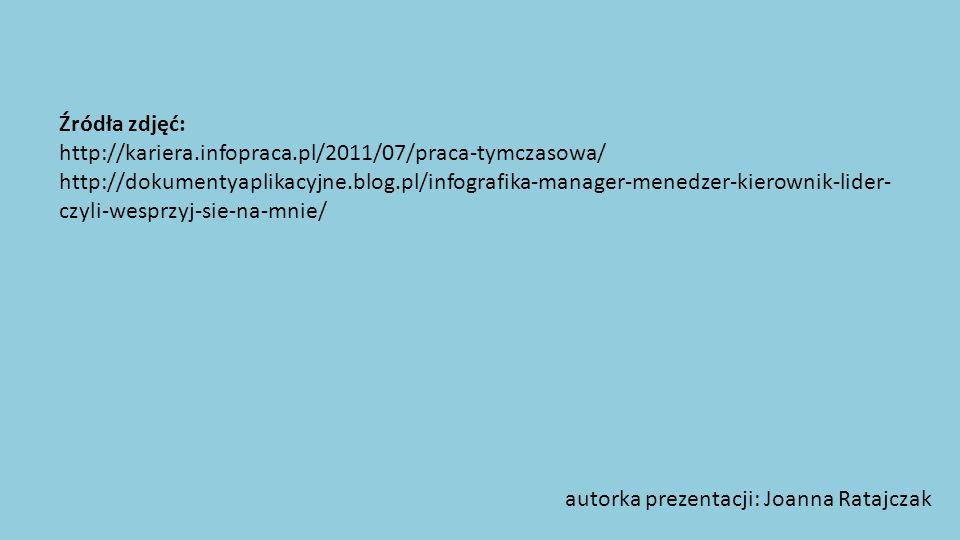 Źródła zdjęć: http://kariera.infopraca.pl/2011/07/praca-tymczasowa/