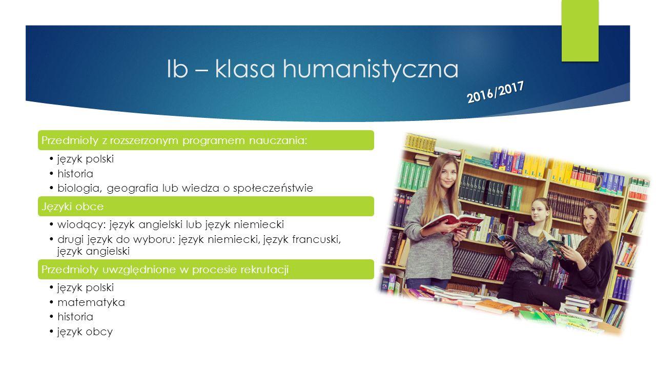 Ib – klasa humanistyczna