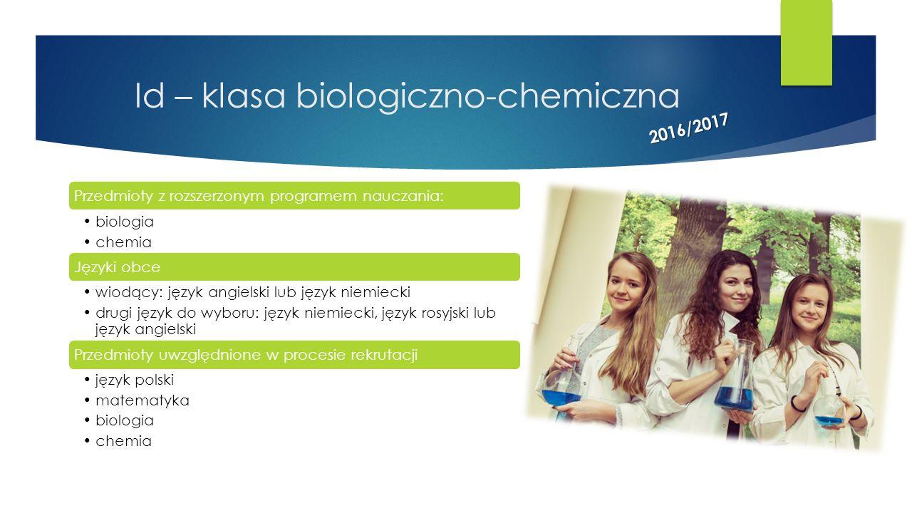 Id – klasa biologiczno-chemiczna