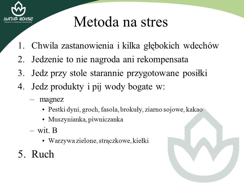 Metoda na stres Ruch Chwila zastanowienia i kilka głębokich wdechów