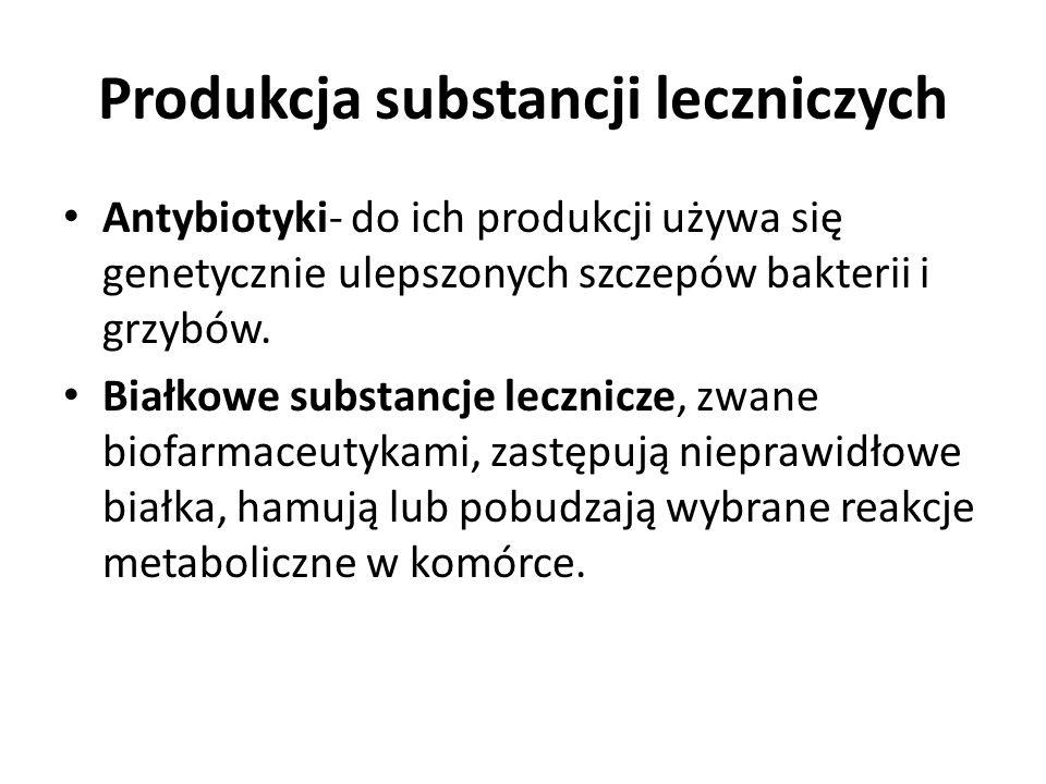 Produkcja substancji leczniczych