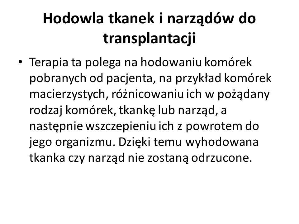 Hodowla tkanek i narządów do transplantacji