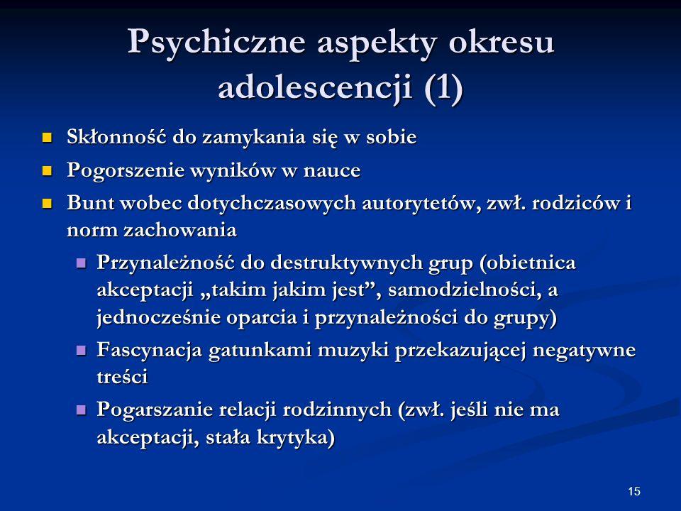 Psychiczne aspekty okresu adolescencji (1)