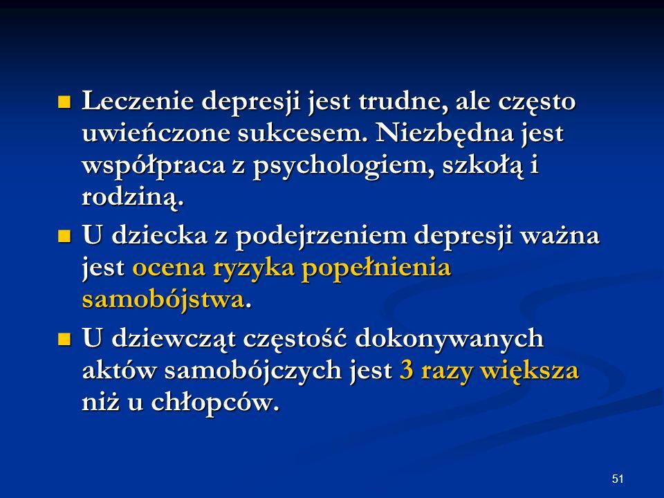 Leczenie depresji jest trudne, ale często uwieńczone sukcesem
