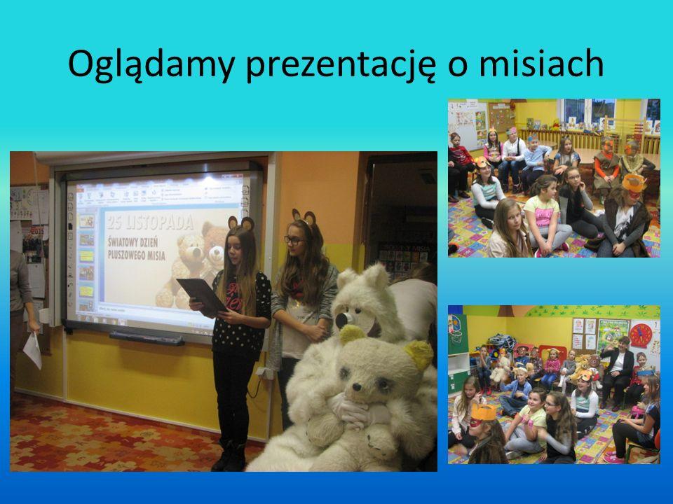 Oglądamy prezentację o misiach