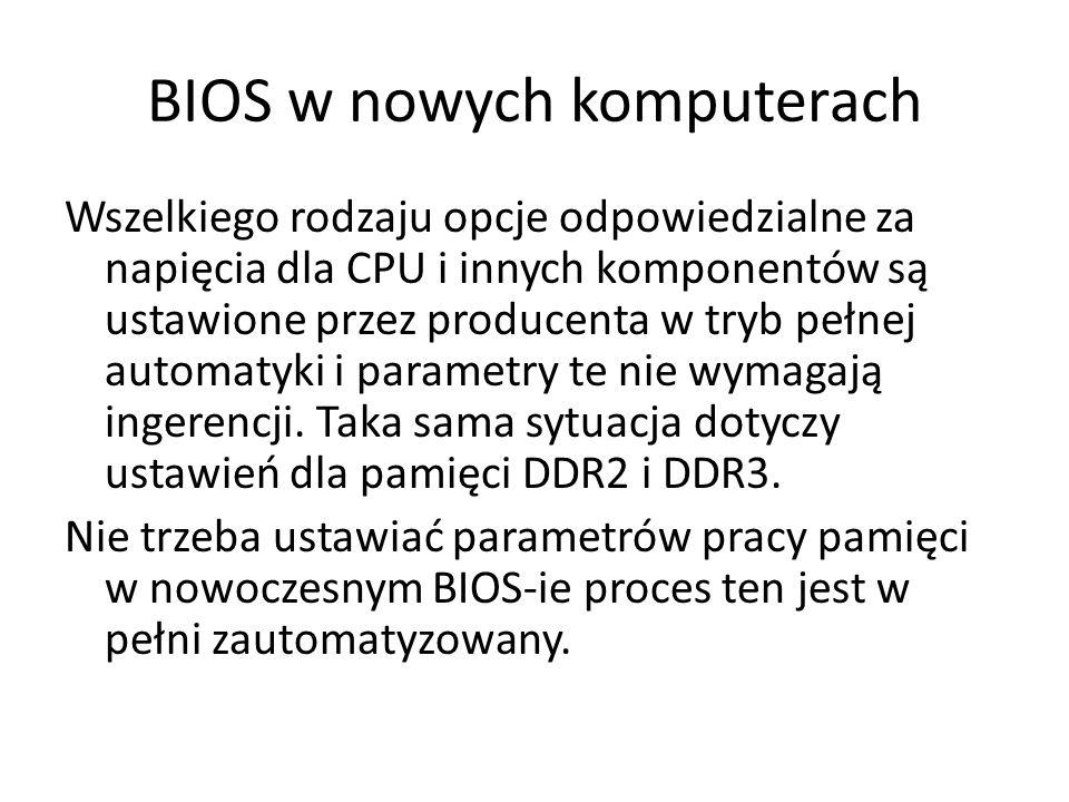 BIOS w nowych komputerach