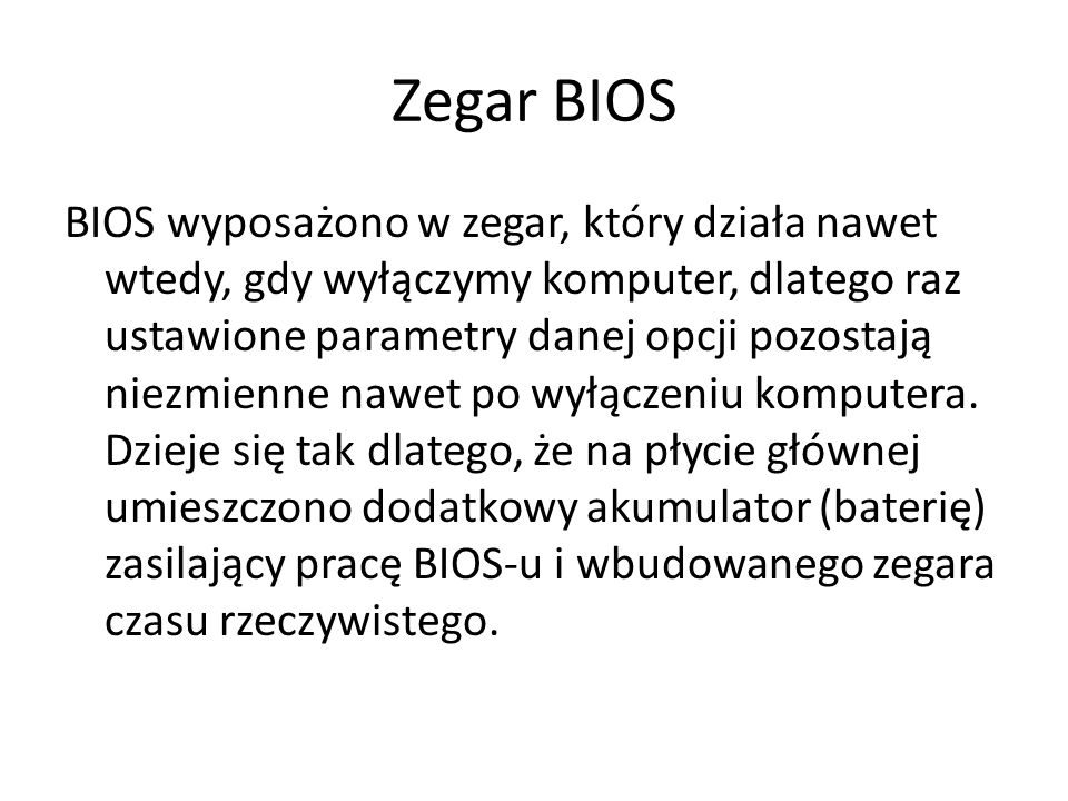 Zegar BIOS