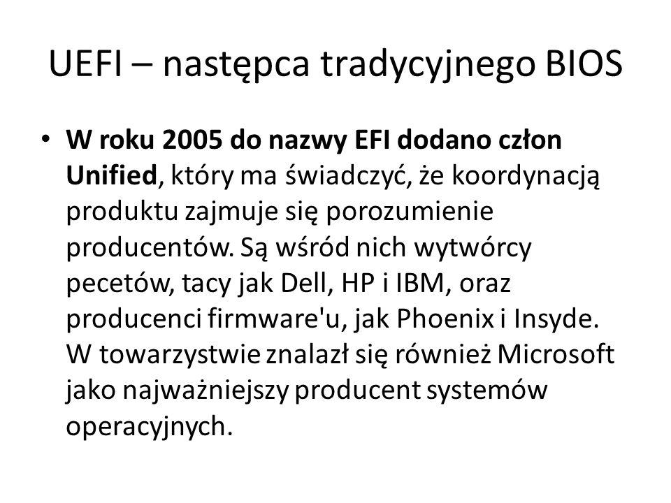 UEFI – następca tradycyjnego BIOS