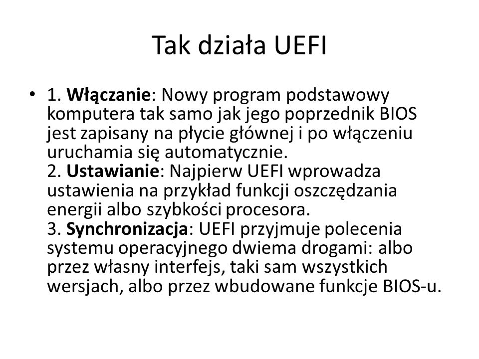 Tak działa UEFI