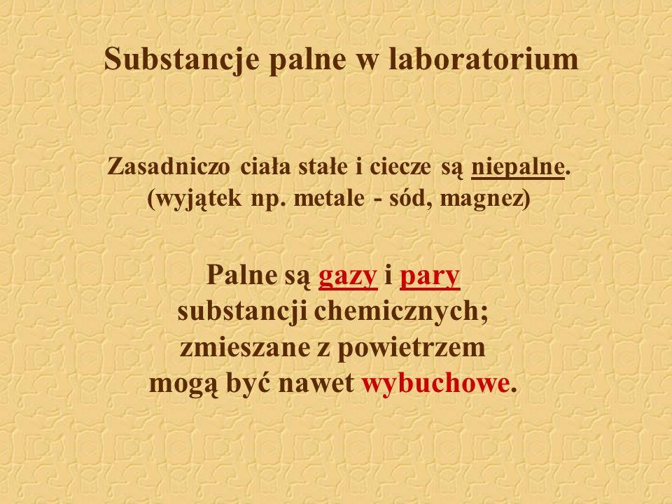 Substancje palne w laboratorium