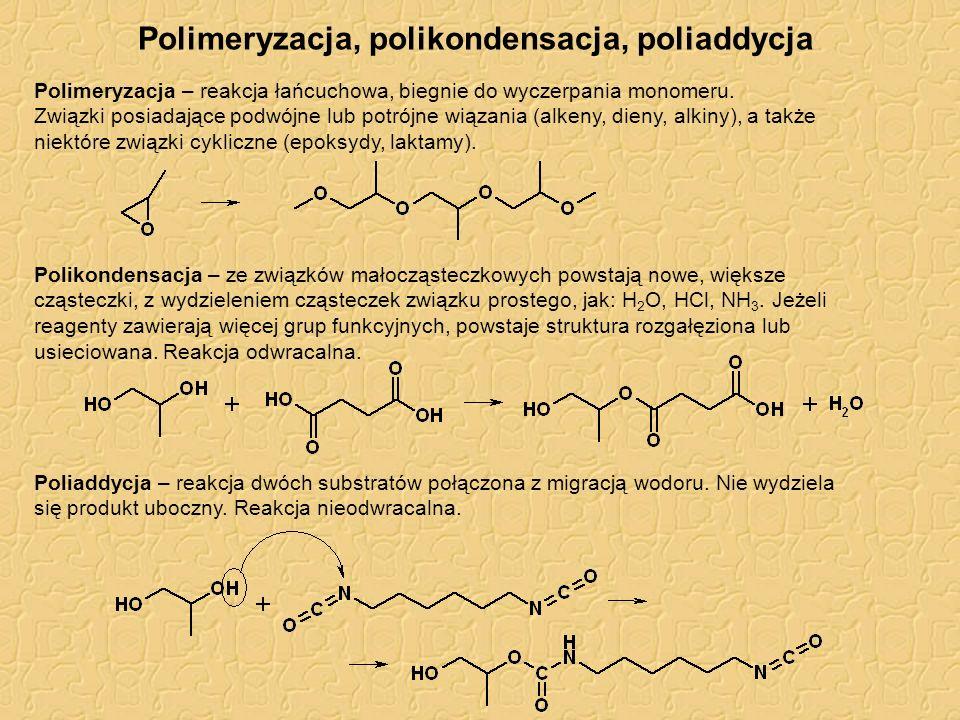 Polimeryzacja, polikondensacja, poliaddycja