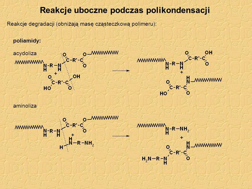 Reakcje uboczne podczas polikondensacji