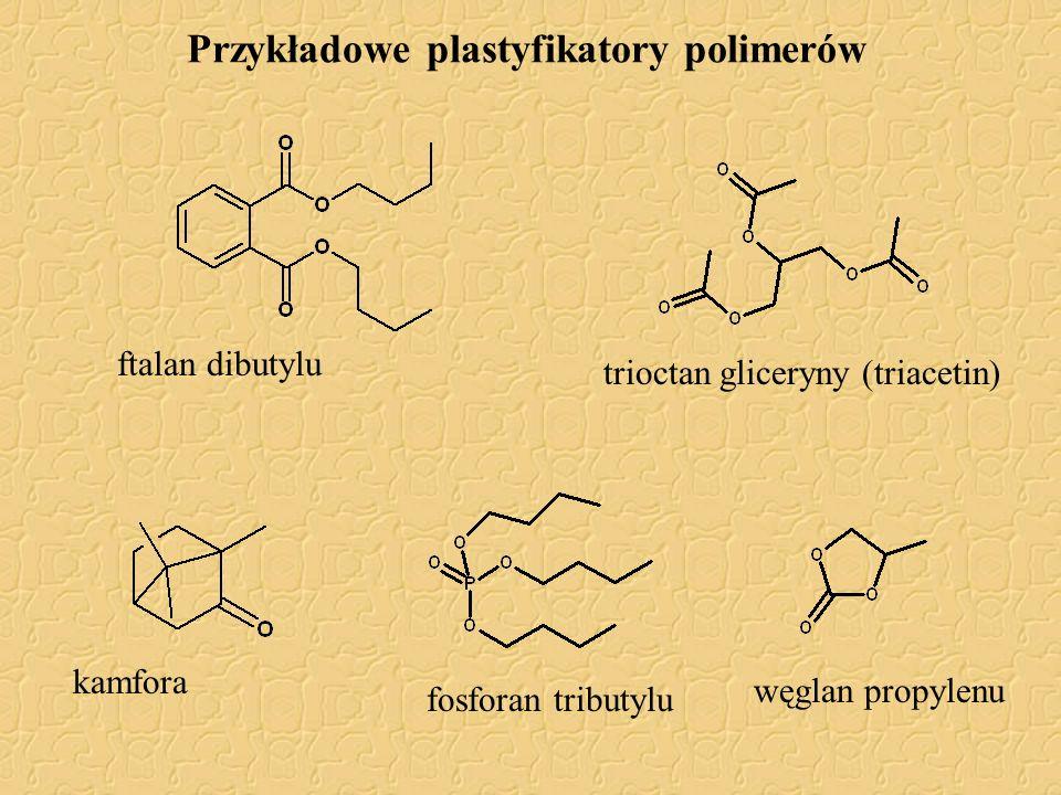 Przykładowe plastyfikatory polimerów