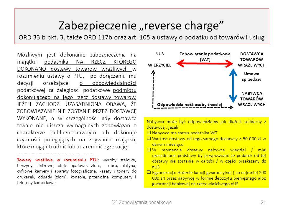 """Zabezpieczenie """"reverse charge ORD 33 b pkt"""