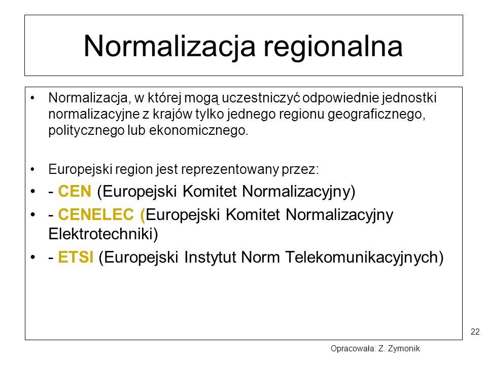 Normalizacja regionalna