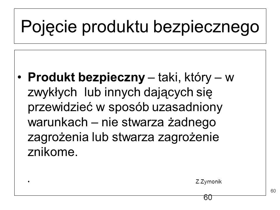 Pojęcie produktu bezpiecznego