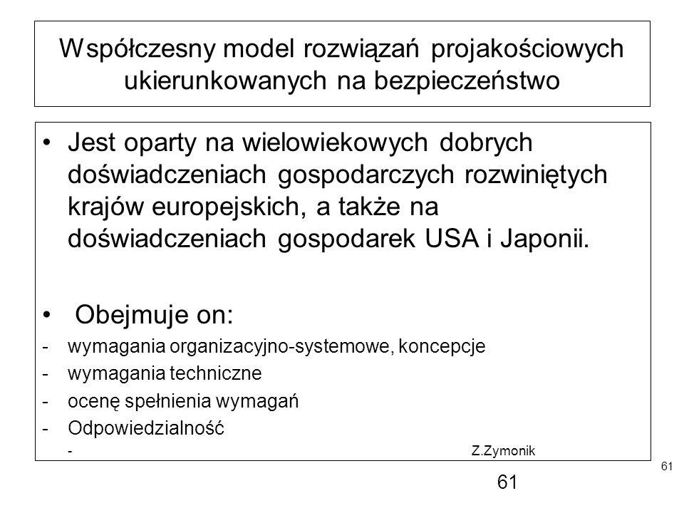 Współczesny model rozwiązań projakościowych ukierunkowanych na bezpieczeństwo