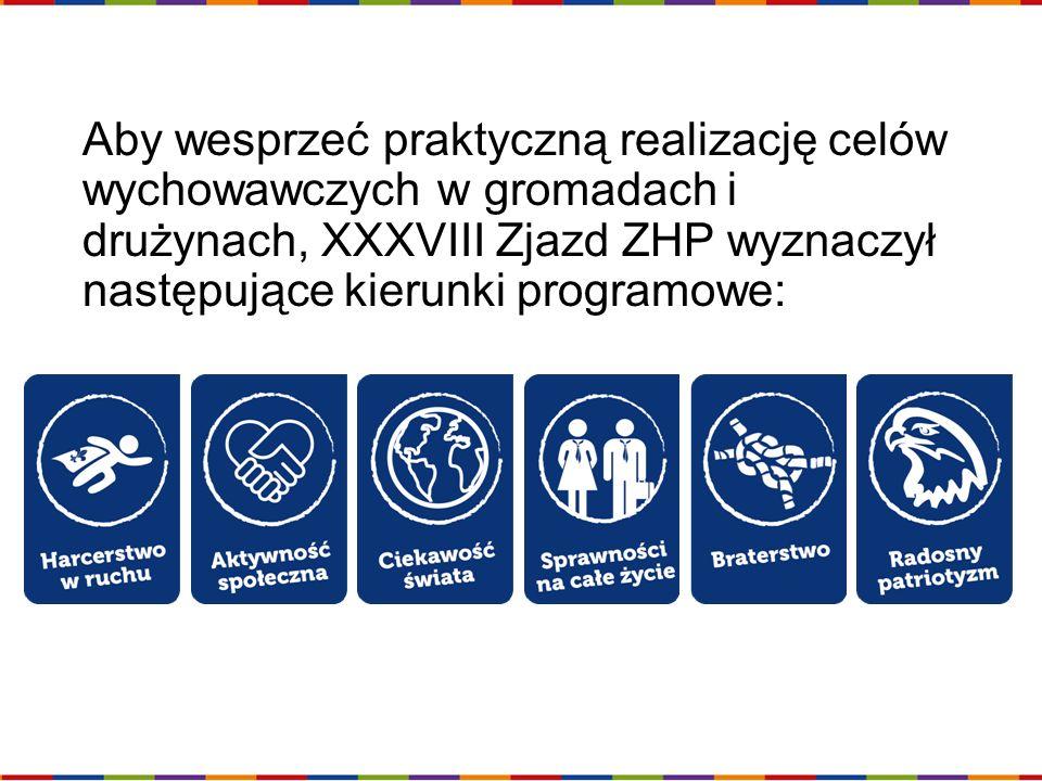 Aby wesprzeć praktyczną realizację celów wychowawczych w gromadach i drużynach, XXXVIII Zjazd ZHP wyznaczył następujące kierunki programowe: