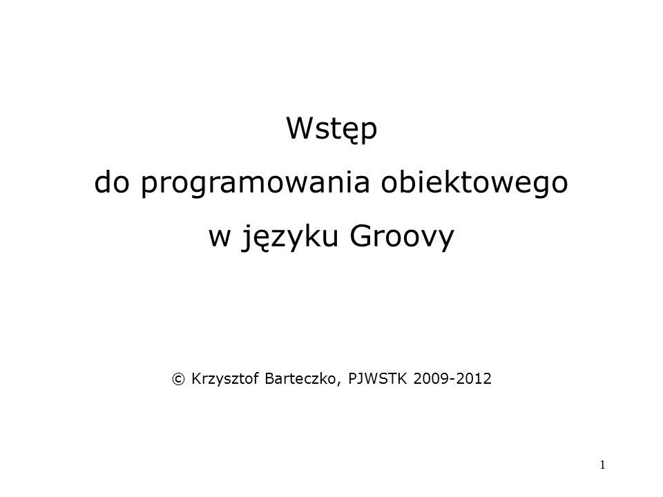 do programowania obiektowego w języku Groovy