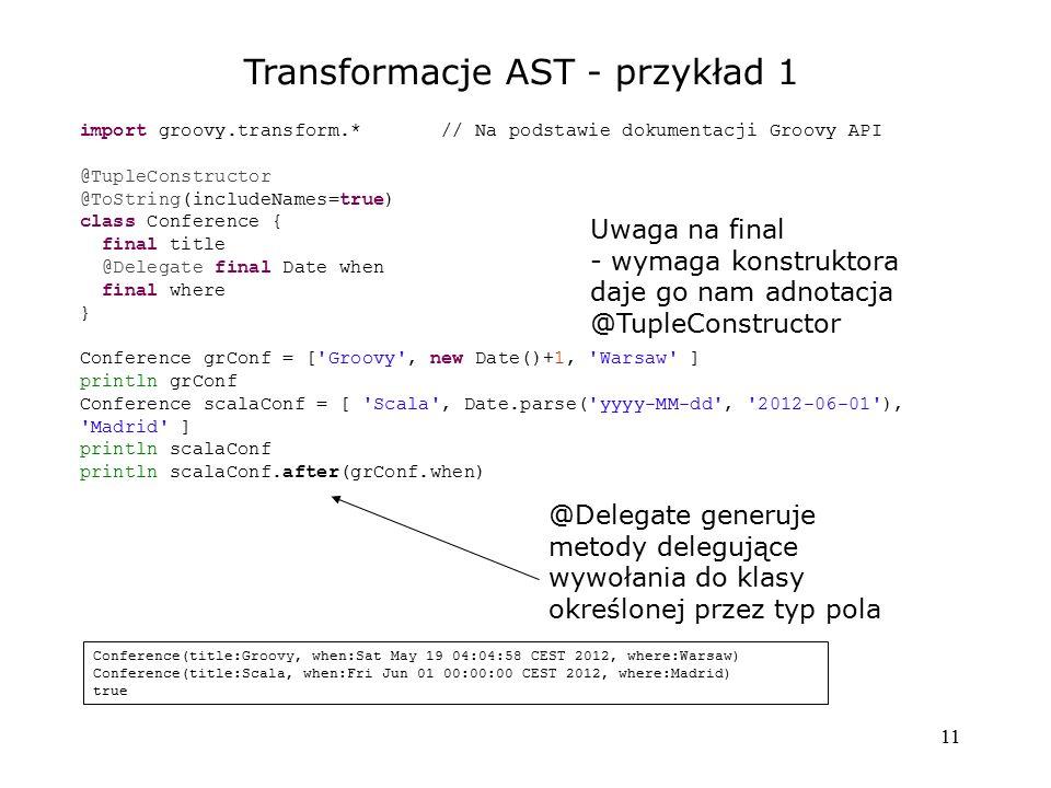 Transformacje AST - przykład 1