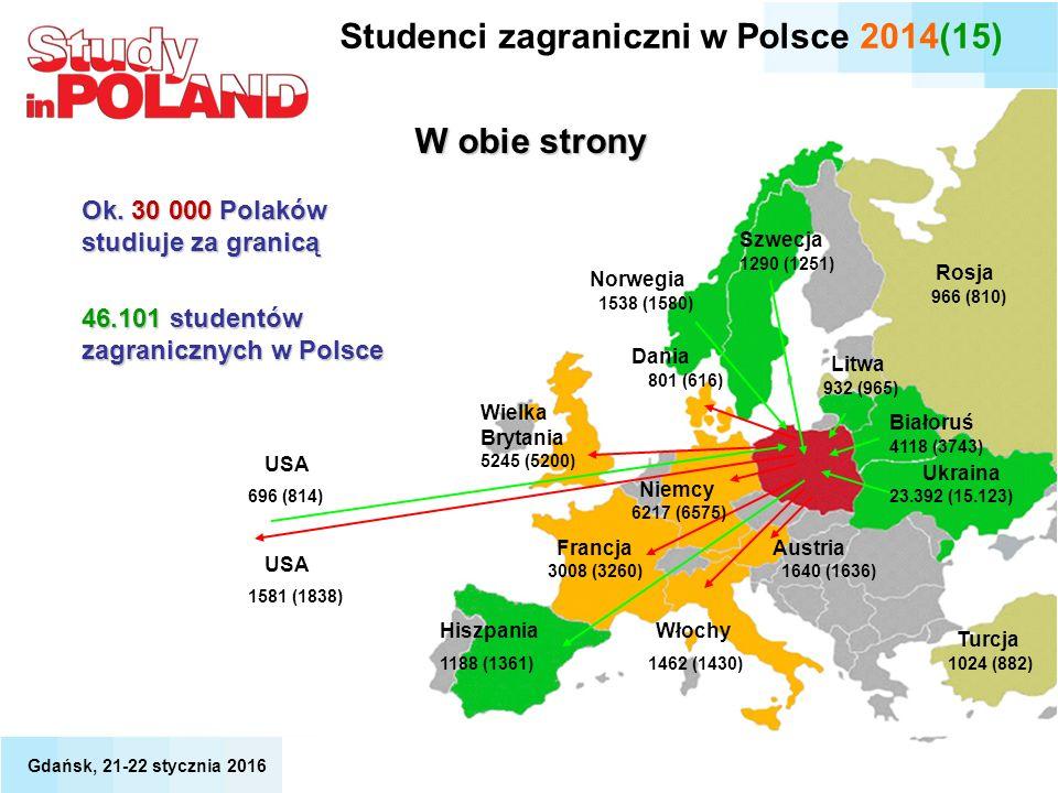 Studenci zagraniczni w Polsce 2014(15)