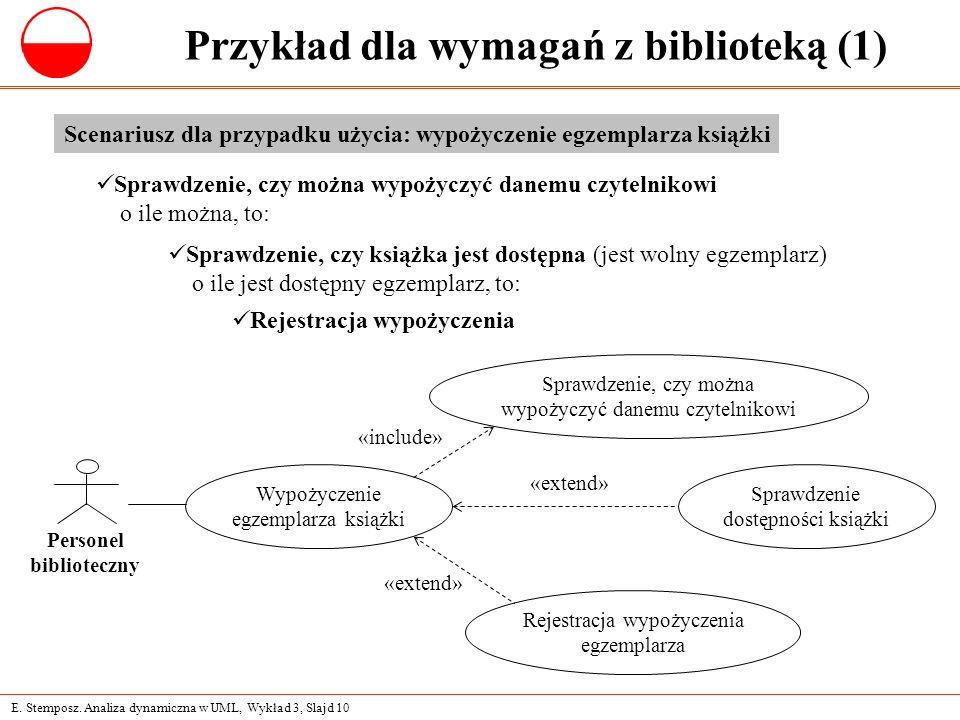 Przykład dla wymagań z biblioteką (1)