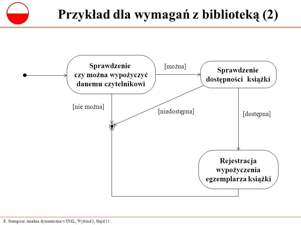 Przykład dla wymagań z biblioteką (2)