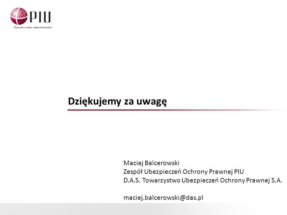 Dziękujemy za uwagę Maciej Balcerowski